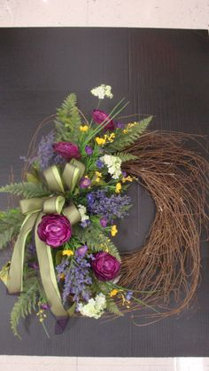 English Garden Wreath designed by Christine Lucas Crowley for Michaels in Willowbrook, IL