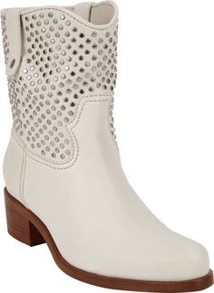 Miu Miu Studded Western Ankle Boots @Lyst Summer Boots, Miu Miu, Cowboy Boots, Chelsea Boots, Ankle Boots, Booty, Designers, Shoes, Women
