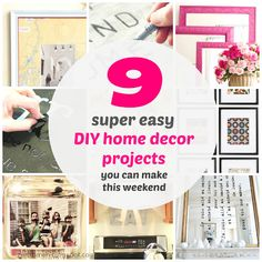 9 Super #Easy DIY Home Decor Projects You Can Make This Weekend! | zen shmen! | an entertaining #home & #diy blog
