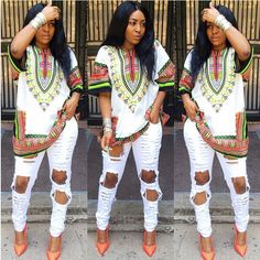 2015 Fashion Design Traditional African wholesale Women's Dress Printed geometric loose dresses for ladies clothing plus size