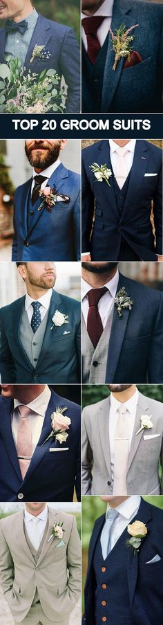 20 popular groom suit ideas for your big day .- 20 popular groom suit ideas for your big day # ideas groom suit - Wedding Men, Wedding Suits, Wedding Attire, Trendy Wedding, Dream Wedding, Wedding Ideas, Wedding Dresses, Wedding Flowers, Wedding Blue