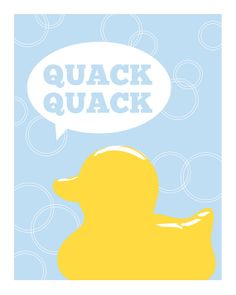 Rubber Duck / Ducky Bathroom Print Wall Art by DaphneGraphics