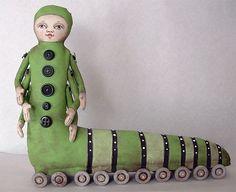 Caterpillar-- Original Contemporary Folk Art Doll