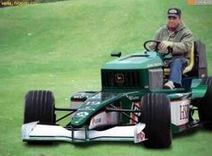 F1 Riding Mower. Maybe this is a guy thing  but that looks pretty awesome!