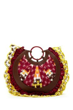 Missoni Round Woven Print Clutch  - SUCH AN AMAZING BAG