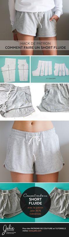 Comment transformer le pantalon Vanessa en short fluide
