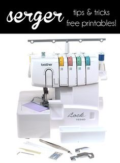 Serger Tips and Cheat Sheets