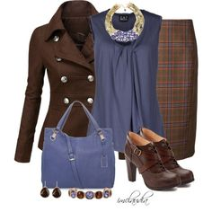 """Style This Jacket for the Office"" by imclaudia-1 on Polyvore...switch to brown pumps."