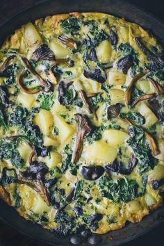 Kale, Mushroom and Potato Tortilla