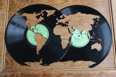 Wanderlust World Map // Globe Cut From A by VinylStateOfMind I WANT THIS SO FRICKING BAD!!!!