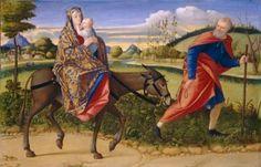 The Flight into Egypt - Vittore Carpaccio.  c.1515.  Oil on panel.  72 x 111 cm.  National Gallery of Art, Washington DC, USA.