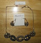 Great NWT Kenneth Cole Necklace  Earrings Brushed Gold Tone with Beads - amp, beads, Brushed, Cole, Earrings., Gold, GREAT, Kenneth, Necklace, tone - http://designerjewelrygalleria.com/kenneth-cole/kenneth-cole-necklaces/great-nwt-kenneth-cole-necklace-earrings-brushed-gold-tone-with-beads/