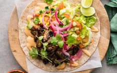 Pulled Mushroom Tacos with Pink Pickled Onions and Smoky Mayo | RNZ Recipes