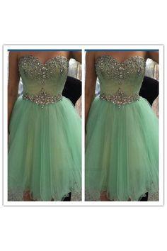 5862e5cd19b0 Customized Magnificent Dresses Cheap Short Mint Cheap Junior Homecoming  Dress #H082