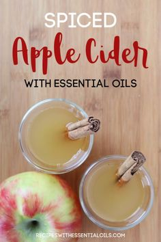 This Spiced Apple Cider with essential oils is the perfect beverage on a cold day! It is tart and sweet with just the right amount of spiciness. Serve it at all your holiday gatherings! #applecider #appleciderrecipe #cider #fallrecipe #recipe #cookingwithessentialoils #essentialoils #essentialoilrecipes #cookingrecipes