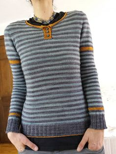 Ravelry: Project Gallery for KC [Kynance Cove] pullover pattern by Isabell Kraemer Tops Vintage, Vintage Cotton, Ravelry, Knitting Stitches, Pulls, Long Sleeve Sweater, Types Of Sleeves, Retro Fashion, Knitwear