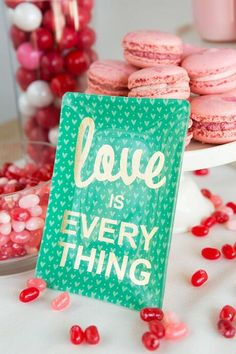 Love is Everything Glass Tray in Green