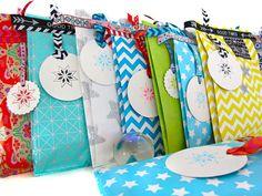 Adventskalender Türchen Nr. 20 Geschenkverpackungen nähen inkl. Webbänder etc.
