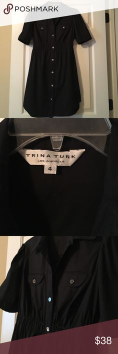 Trina Turk Shirt dress Perfect condition… Super cute dress for every day, or a special occasion. True to size. No trades. Offers welcome.✌️😊 Trina Turk Dresses