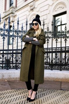 olive green coat with urban outfit