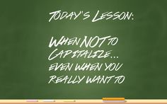 When to capitalize