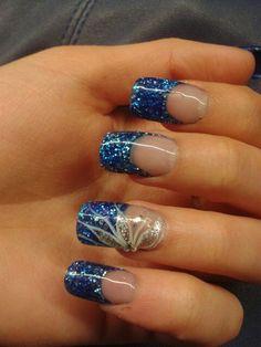 1000 images about u as on pinterest acrylic nails - Unas azules decoradas ...