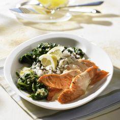Lachs in Zitronensoße zu Spinat und Reis Rezept | LECKER