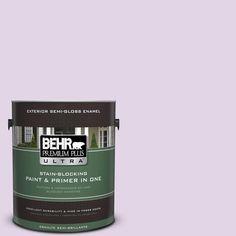 BEHR Premium Plus Ultra 1-gal. #660A-2 Chateau Rose Semi-Gloss Enamel Exterior Paint