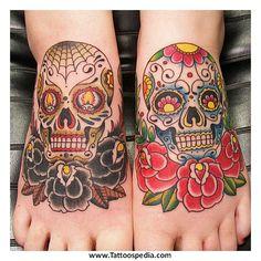 Skull Tattoos Day Of The Dead 2