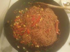 Vegan Singapore noodles!