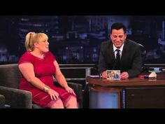 Rebel Wilson on Jimmy Kimmel Live part 1 and then watch part 2 after. This girl is hilarious! Awkward but hilarious!