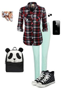 """Backpack"" by hanakdudley ❤ liked on Polyvore featuring NYDJ, yeswalker, Bridge Jewelry and ASOS"