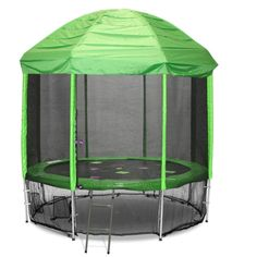 12FT TRAMPOLINE ROOF GREEN (Trampoline not included, you must have straight enclosure poles, takes 2-3 weeks for delivery)