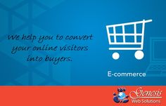 Now convert #online   #visitors  into #buyers    Join #GENESIS   #Web   #Solutions  to make an outstanding #eCommerce   #website
