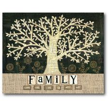 Farmhouse Canvas Family Tree Gallery Wrapped Canvas