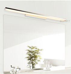 Ecobrt Long Led Bathroom Wall Lights Modern Style Indoor Bedroom Sconces Lighting Fixtures Over Mirror / Best Bathroom Lighting, Bathroom Wall Lights, Bathroom Light Fixtures, Wall Lamps, Deco Led, Diy Mirror, Mirror Ideas, Bathroom Colors, Bathroom Ideas