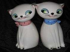 Salt & Pepper Shakers -- Holt Howard 1950's Collectible Cozy Kittens.