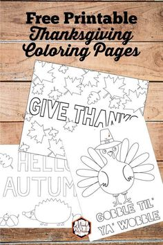 From turkey's to hedgehogs to fall leaves, get the best Thanksgiving Coloring Pages Free Printable from Mandy's Party Printables right here! Free Thanksgiving Printables, Thanksgiving Activities For Kids, Thanksgiving Coloring Pages, Thanksgiving Crafts, Free Printables, Party Printables, Thanksgiving Table, Thanksgiving Decorations, Free Printable Coloring Pages