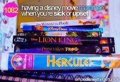 Having a Disney movie marathon when you're sick or upset = best ever.
