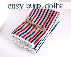 Burp Cloths | Sewing | CraftGossip.com