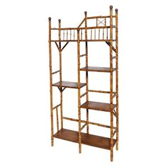 Fine English Bamboo Etagere, Book Stand For Sale at 1stdibs
