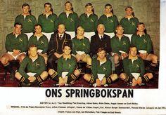 Springbokspan - 1ste toets teen die All Blacks 1970. Loftus Versveld (Mclook rugby collection)