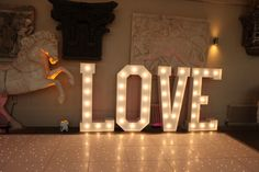Aynhoe Park Wedding with Light Up Letters provided by Mighty Fine Entertainment.