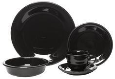 $32.99 (per place setting total $263.92 for 8 settings) Fiesta 5-Piece Place Setting, Black : Amazon.com : Kitchen & Dining