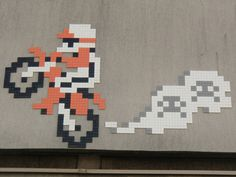Paris--France--PA-1259-94-50pts Space Invaders, Best Artist, Mosaic Art, Paris France, Pixel Art, Street Art, Mosaics, Mosaic