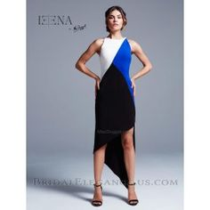 This color blocked high low will make traveling for spring break just as fashionable as your night out. This jersey stretch high-low combines comfort and style. Pair with a sexy pair of heels for your night adventures. High Low Prom Dresses, Unique Prom Dresses, Pageant Dresses, Homecoming Dresses, Bridal Dresses, Nice Dresses, Evening Dresses, Prom Tuxedo, Bridal Elegance