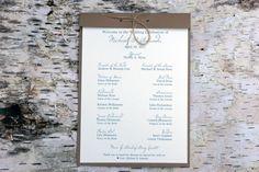 Rustic Wedding Ceremony Program Examples   ceremony programs