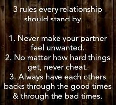 3 Rules every relationship should stand by.