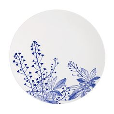 Evergreen Blues porcelain by Elinno of Finland plate 27cm (also available in 20cm and 30 cm) deep plate 23cm