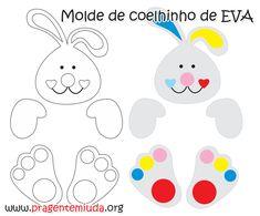 Coelhinhos feitos com chocolates e EVA | Pra Gente Miúda